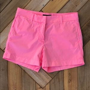 Jcrew neon pink chino shorts